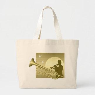 Trombone en claro de luna bolsas de mano