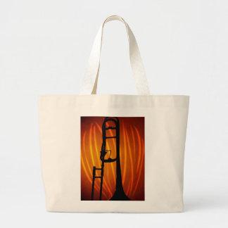 Trombone en fuego bolsas de mano