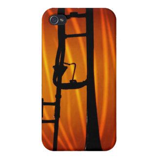 Trombone en fuego iPhone 4/4S funda