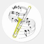 Trombone Etiqueta Redonda