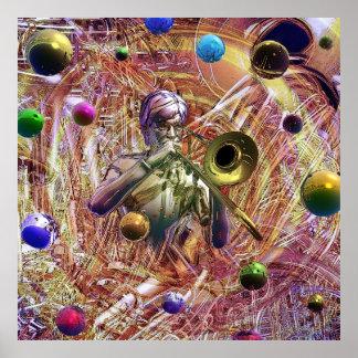 Trombone Fantasy Print