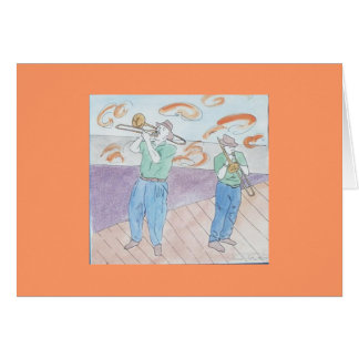 trombone frenzy greeting card