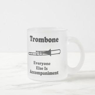 Trombone Gift 10 Oz Frosted Glass Coffee Mug