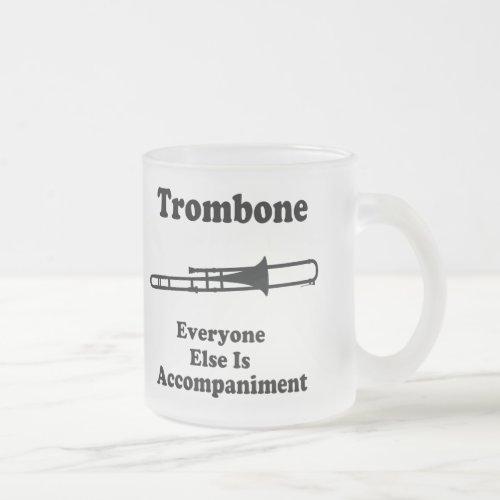 Trombone Gift Frosted Glass Coffee Mug