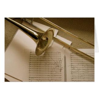 Trombone greeting card