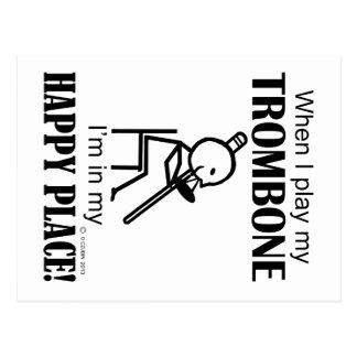 Trombone Happy Place Postcard