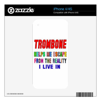 Trombone Helps Me iPhone 4S Decal