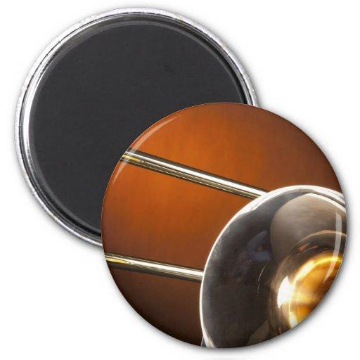 Trombone Image 2 Inch Round Magnet