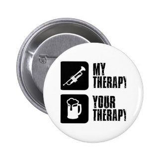 Trombone is my therapy pinback button