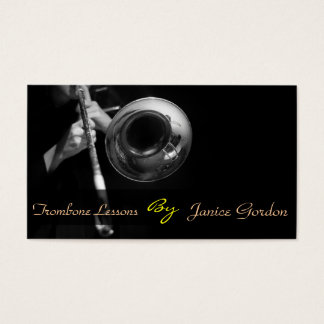 trombone Lessons Instrument Music Instructor Business Card
