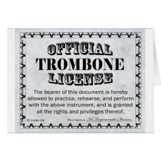 Trombone License Card