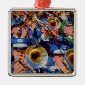 trombone mob AKA band geeks gone wild Metal Ornament