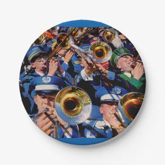 trombone mob AKA band geeks gone wild Paper Plate
