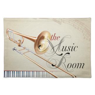 Trombone Music Room Cloth Place Mat