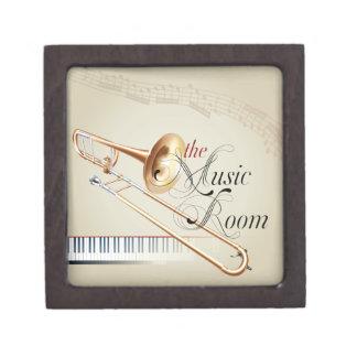 Trombone Music Room Keepsake Box