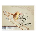 Trombone Music Room Postcard