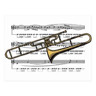 Trombone Musical 14 B Postcard
