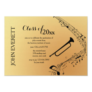 Trombone Musical Instrument Invitation