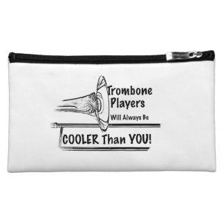 Trombone Musician Cooler than You Tote Bag Cosmetic Bags