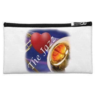 Trombone Musician Love Key Tote Bag Makeup Bag