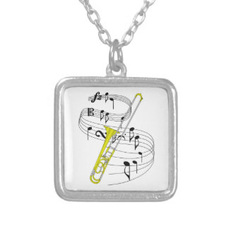 Trombone Personalized Necklace