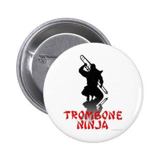 Trombone Ninja 2 Inch Round Button
