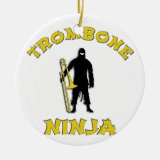 Trombone Ninja Ceramic Ornament