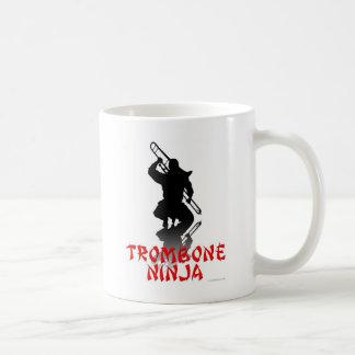 Trombone Ninja Classic White Coffee Mug
