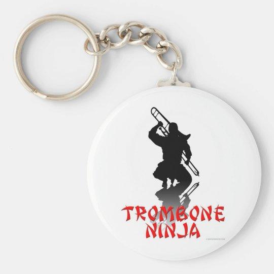 Trombone Ninja Keychain