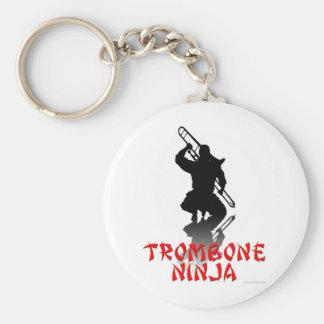 Trombone Ninja Llavero Redondo Tipo Pin