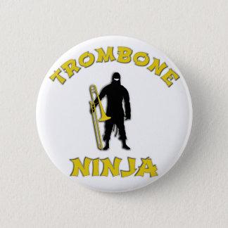 Trombone Ninja Pinback Button