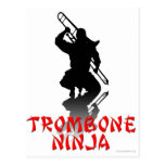 Trombone Ninja Tarjeta Postal