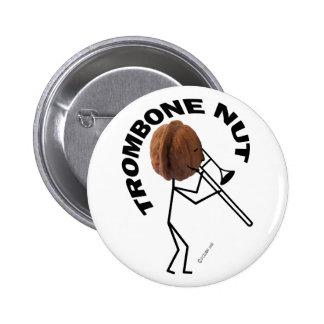 Trombone Nut Pinback Button