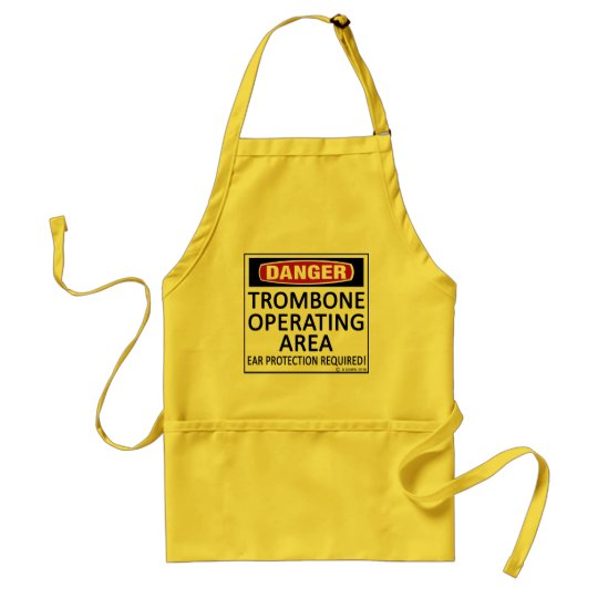 Trombone Operating Area Adult Apron