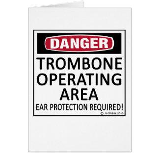 Trombone Operating Area Card