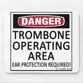 Trombone Operating Area Mouse Pads