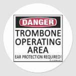 Trombone Operating Area Round Sticker