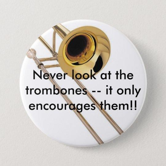 Trombone Pinback Button