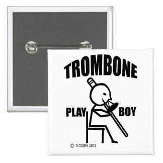 Trombone Play Boy Button