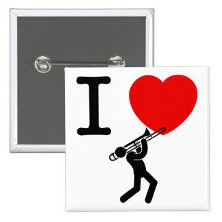 Trombone Player Pin