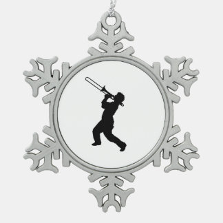 """Trombone player"" design gifts and products Snowflake Pewter Christmas Ornament"