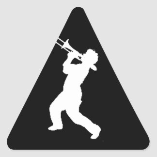 """""""Trombone Player"""" design gifts and products Triangle Sticker"""