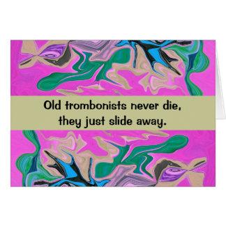 trombone player humor card