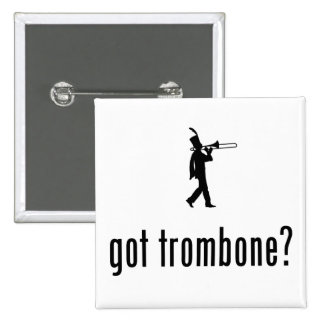 Trombone Player Pinback Button