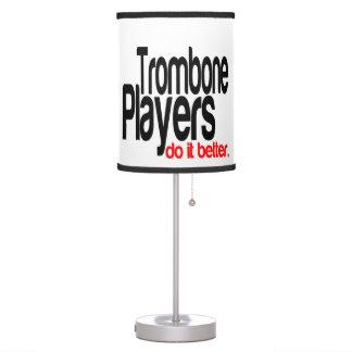 Trombone Players Do It Better Desk Lamp