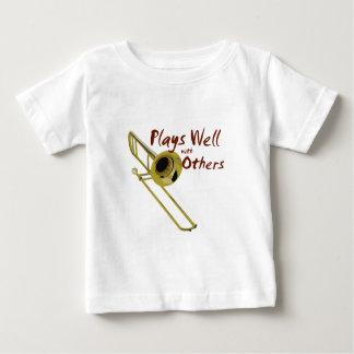 Trombone Plays Well Baby T-Shirt