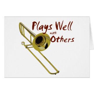 Trombone Plays Well Card