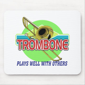 Trombone Plays Well Mouse Pad