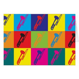 Trombone Pop Art Card