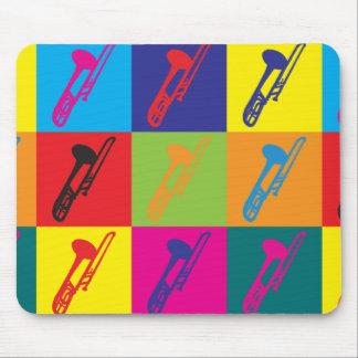 Trombone Pop Art Mouse Mats